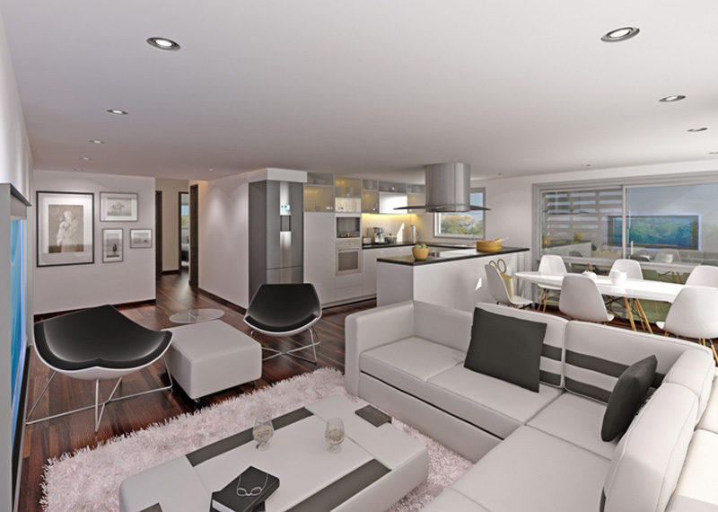 3bedroom Living RoomA